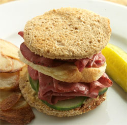 Gourmet Toasted Pastrami Sandwich