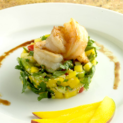 Tiger Prawns on Mango Salsa